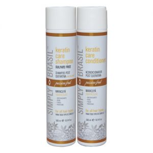 Simply Brasil Keratin Care Sulfate Free Shampoo and Conditioner, 300 ml