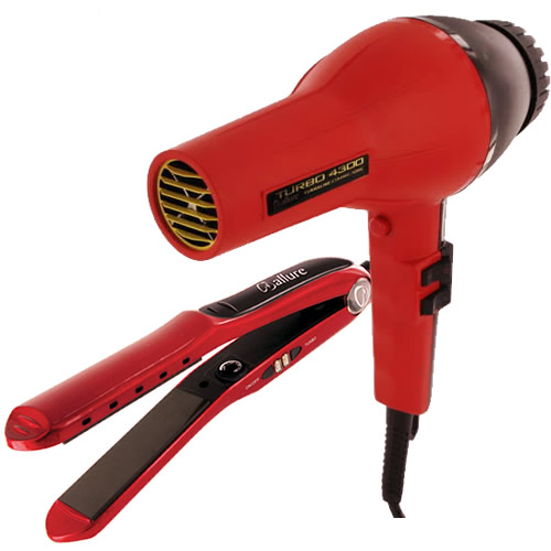 allure-turbo-4300-hair-dryer-and-1-inch-ceramic-plates-flat-iron-red-500×500