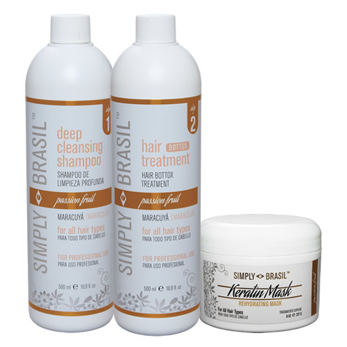 Simply Brasil Bottox hair treatment kit, 500 ml