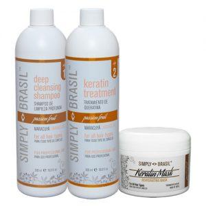 Simply Brasil Keratin hair treatment kit, 500 ml